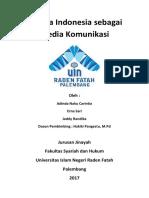 Bahasa Indonesia Sebagai Media Komunikasi