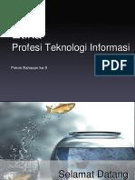 1. Profesi IT Sistem Informasi