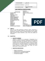 Silabo Diseño en Construcciones Iso 9001 2015
