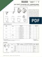 Revere 3200 & 3500 General Purpose & Heavy Duty Cluster-Lite Lampholders Bulletin 1966