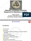 Selection of Explosion Protected Equipment for Hazardous Loctions