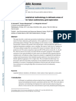 A Multivariate Geostatistical Methodology to Delineate Areas Of
