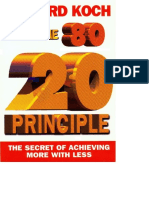 20 Principle_ the Secret of Achieving More With Less the 80 20 Principle to Achieve More With Less Effort1