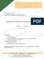 ABS postal form