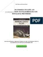 Bringing Fossils to Life an Introduction to Paleobiology by Donald r Prothero