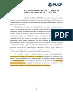 FGAD 2015 Estándares Académicos Para Trabajos de Investigacion Aptos Para Titulacion