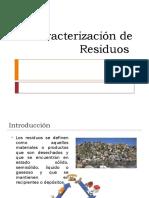 Caracterización de Residuos Ambientales