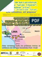 Boletin Carreteras Huaura, Sayán, Churín y Oyón