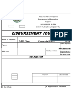 DISBURSEMENT Voucher Sample