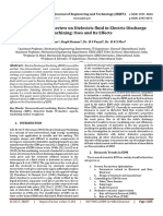 A State-of-the-art Review on Dielectric fluid in Electric Discharge Machining