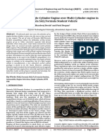 Sustainable Use of Single-Cylinder Engine Over Multi-Cylinder Engine in Formula SAE/Formula Student Vehicle