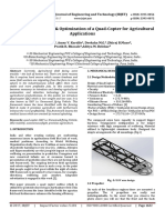 Design, Development & Optimization of a Quad-Copter for Agricultural Applications