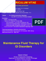 Fluid Maintenance Therapy for Gastrointestinal Disorder Prof Iswan 22 Sept 2012 FINAL CETAK