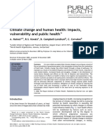 Climate Change and Human Health Impacts Vulnerability and Public Health