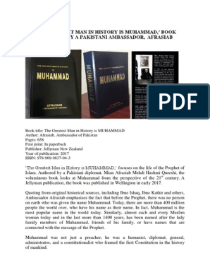 The Greatest Man In History Is Muhammad,' Book Authored By A