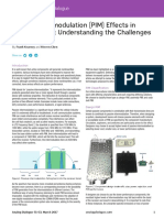 Passive Intermodulation Effects in Base Stations Understanding the Challenges and Solutions