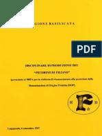 """Disciplinare di Produzione del """"Pecorino di Filiano"""" - Archivio storico"""