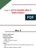 GLP 1 vs Insulin After 2 OADs Failure CME Final