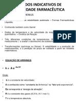 Métodos Indicativos de Estabilidade Farmacêutica