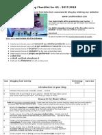 A2 Advanced Portfolio Blogging Checklist 2017-2018