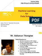 Sent-Machine Learning for Data Science