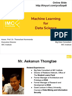 Sent-Machine Learning for Data Science | Statistical