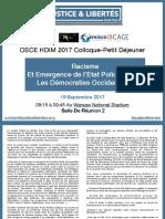 Racisme Et Emergence De l'Etat Policier Dans Les Démocraties Occidentales OSCE HDIM 2017