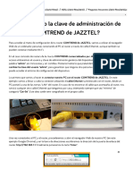 ¿Cómo Cambio La Clave de Administración de Mi Router COMTREND de JAZZTEL_ - Ayuda Jazztel