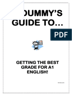 A Dummy's Guide to Basic English Analysis (2)