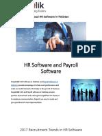 2017 Recruitment Trends in HR Software