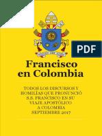 Discursos completos del Papa Francisco en Colombia
