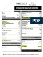 Purchase Summary- Loan Estimate