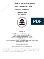 EPA National Contingency Plan Products Schedule 2012 Jan