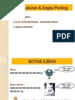PENGUKURAN & NOTASI ILMIAH