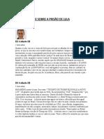 Chico Buarque Sobre a Prisão de Lula