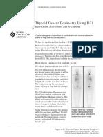 Thyroid Cancer Dosimetry Using I131
