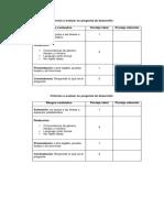 Criterios a Evaluar en Pregunta de Desarrollo