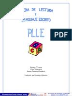 Prueba de Lectura y Lenguaje Escrito PLLE