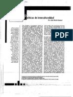 BARBERO,  POLITICAS DE INTERCULTURALIDAD