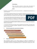 Preparación y presentación del informe