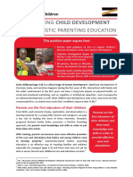 Parenting Education Literacy Position Paper 2014-07-18