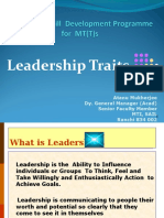 Leadership Session Slides