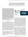 A Lddosaware Energy Efficent Multipathing Scheme for Mobile Cloud Computing
