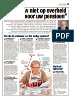 """""""Vertrouw niet op overheid zorg zélf voor uw pensioen"""""""