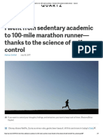 I Learned to Run 100-Mile Marathons—Thanks to the Science of Self-control — Quartz