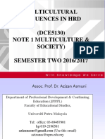 Note 1 Multiculture & Society Dce 5130 Sem 2 2016