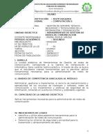 SÍLABO HERRAMIENTAS DE GESTION DE REDES DE COMUNICACION