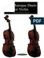 Easy Baroque Duets for Violin - Unknown