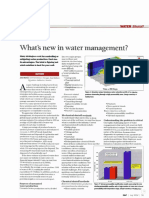 Whats New in Water Management