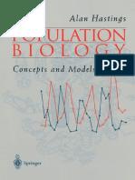 Population Biology (Hastings)